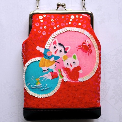 [SPK7-L-016]「Sumako7号-L」・魚釣りの恋人猫と鞠模様