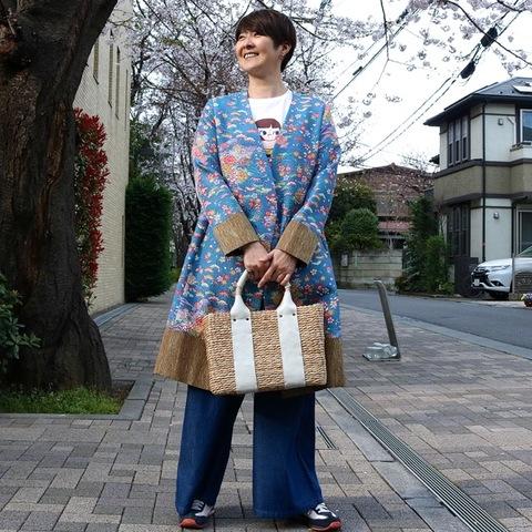 [OH2B-001]「乙姫2号-B」・青地四季の花模様