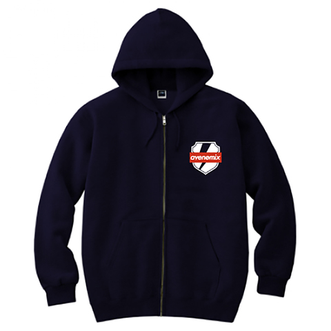 avenomix / THUNDER EMBLEM FULL ZIP HOODED SWEATSHIRT NAVY
