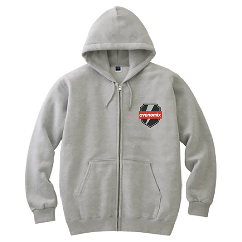 avenomix / THUNDER EMBLEM FULL ZIP HOODED SWEATSHIRT GRAY