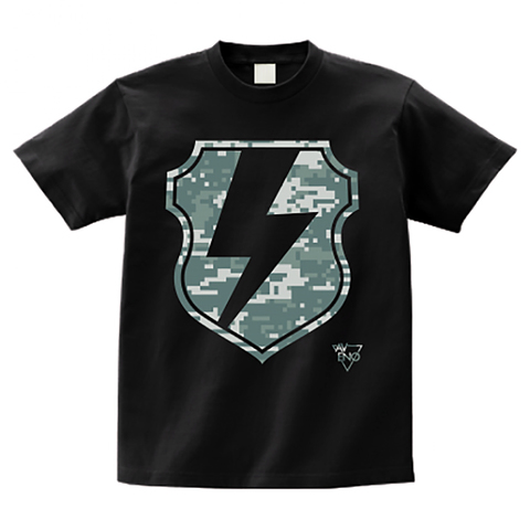 avenomix / THUNDER EMBLEM T-SHIRT BLACK DIGITAL CAMO