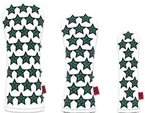 77WH21 Selmoヘッドカバー Stella 黒×緑(BK)【UT】