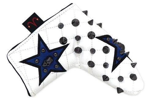 79WH31 Selmoヘッドカバー Stella (黒×黒)/C.ブルー【PT】