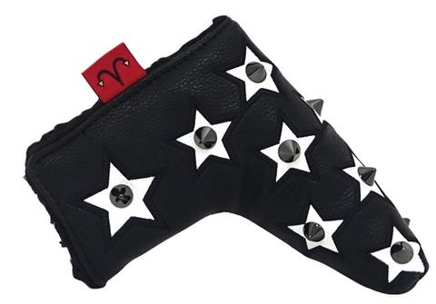 79BK26 Selmoヘッドカバー Stella 黒×黒(白)【PT】