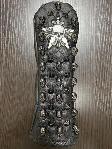78SS04 Selmoヘッドカバー Skull (黒×黒)/WH(UT)