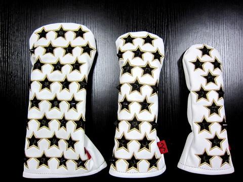71WH03 Selmoヘッドカバー Stella 黒×ゴールドstar(BK)【DR】