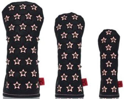 77BK25 Selmoヘッドカバー Stella(黒×黒)/ピンク 【UT】