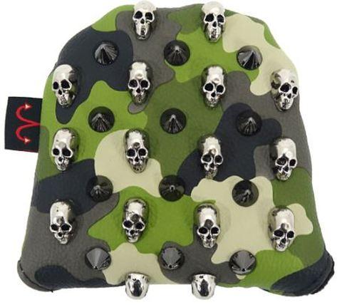 7994 Selmoヘッドカバー Skull シルバー×カモ緑 【PM】