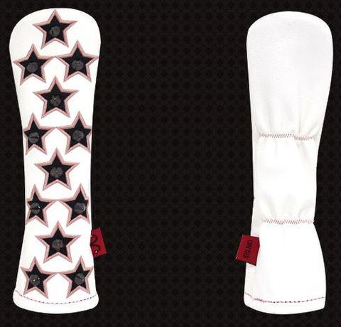 77WH08 Selmoヘッドカバー Stella 黒×ピンクstar(BK)【UT】