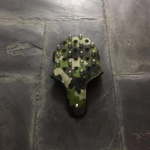 7994 Selmoヘッドカバー Skull シルバー×カモ緑 【PT】