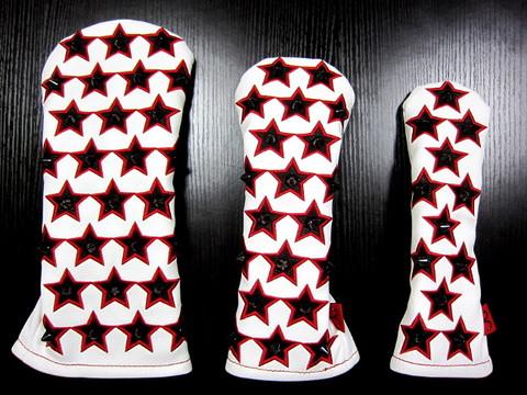 71WH01 Selmoヘッドカバー Stella 黒×赤star(BK)【DR】