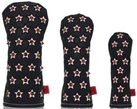 74BK25 Selmoヘッドカバー Stella(黒×黒)/ピンク 【FW】