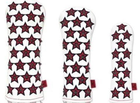 74WH25 Selmoヘッドカバー Stella 黒×黒(赤)【FW】
