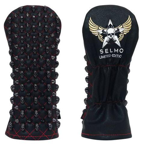 7297 Selmoヘッドカバー Skull 黒×黒/赤(DR)