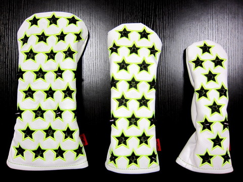 71WH02 Selmoヘッドカバー Stella 黒×蛍光緑star(BK)【DR】