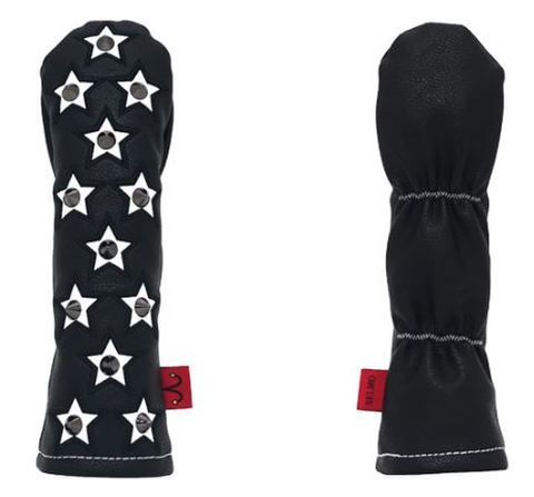 77BK26 Selmoヘッドカバー Stella(黒×黒)/白 【UT】