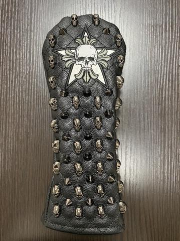 75SS04 Selmoヘッドカバー Skull (黒×黒)/WH(FW)
