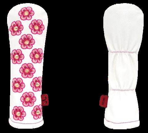 7805 Selmoヘッドカバー Flower GD×白【UT】