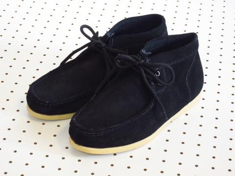 本革スウェードワラビーブーツ/黒 by【Double K】 メンズレザーワークブーツチャッカブーツ27cm28cm29cm30cm ビッグサイズあり 大きいサイズ有り ネット通販売新品