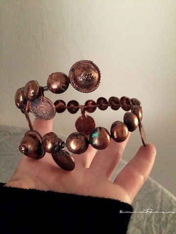 turkoman button arm/copper