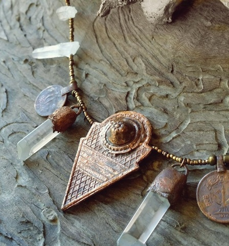 10%OFF am.crystal necklace/copper
