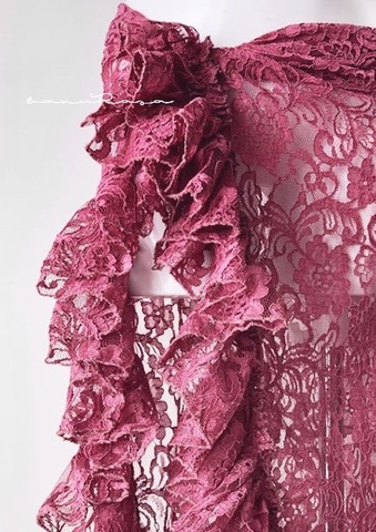 Ruffled Flower Lace SK -ROSE