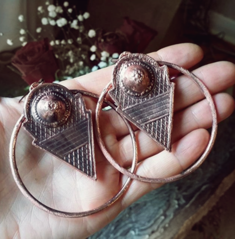 am.talhakimt earrings/copper