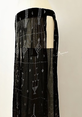 Black Assuit Long Skirt