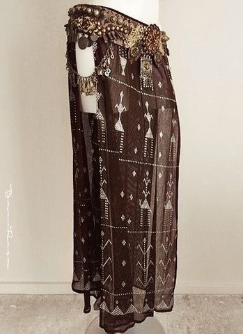 Brown Assuit Long Skirt