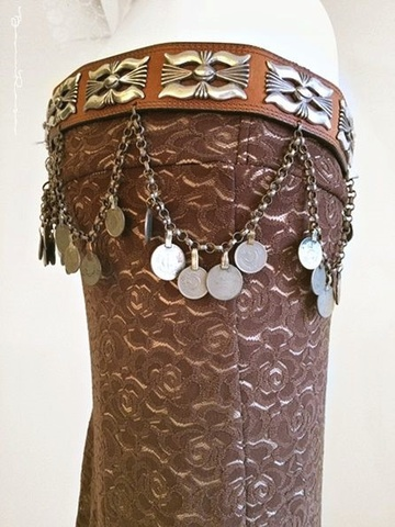 tribal fusion leather belt