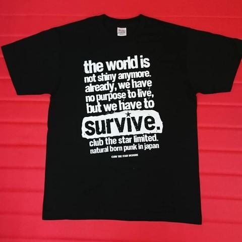 【1点限り】CLUB THE STAR / surevive. Tシャツ Mサイズ
