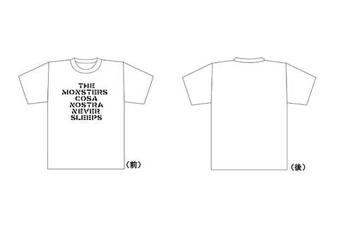 THE MONSTERS / CRASS LOGO Tシャツ 白