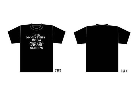 THE MONSTERS / CRASS LOGO Tシャツ 黒