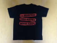THE MONSTERS / SC LOGO Tシャツ 黒×赤