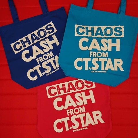 "CLUB THE STAR / ""CHAOS"" CASH FROM CT STAR トートバッグ"