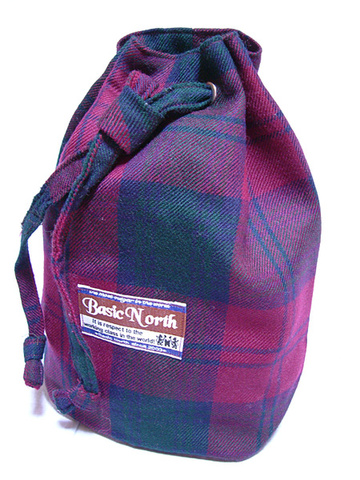 Deep Red Check BAG