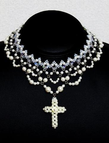 クリスティーナのネックレス                (ホワイト)
