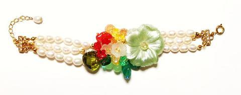 花のワルツブレスレット(G&Green)