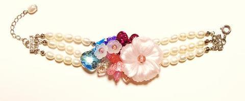 花のワルツブレスレット(S&Pink)