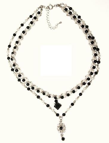 ブラック&ホワイト(オニキス)ネックレス