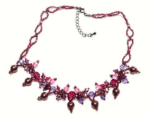 紅葉のネックレス(ピンク)