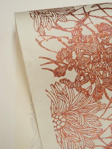 ギルディング和紙/菊柄