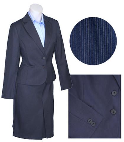 細ストライプ二つ釦スーツw271712【S】7号小さいスーツ
