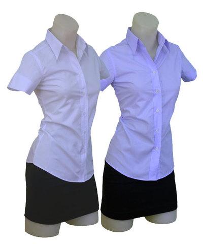 半袖開襟シャツw272338【2S】3号 小さいサイズ・レディース