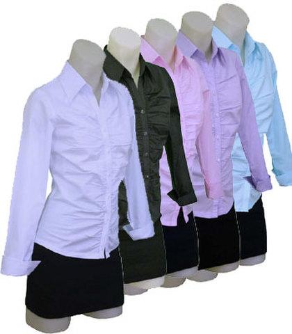 長袖ギャザーシャツ w272240 【S】5号 プチサイズ