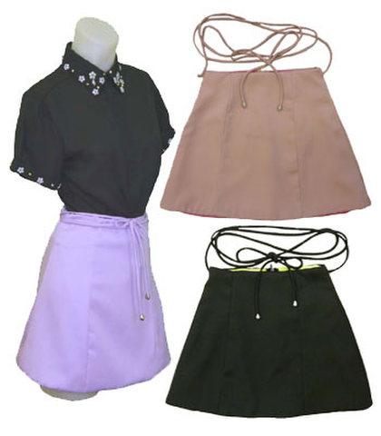 バルーンミニスカートw242222【S】3号~5号 小さい服