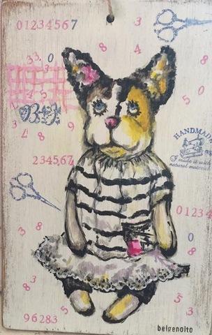 三毛猫のドール イラストボード