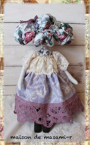 プードルのドール(薄紫)38cm お洋服着脱不可。