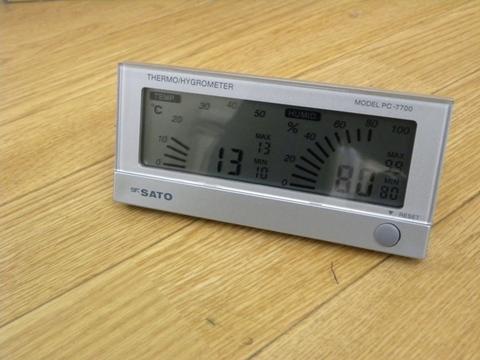 最高最低温湿度計