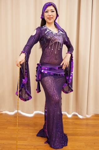 Hanan・サイーディードレス Purple